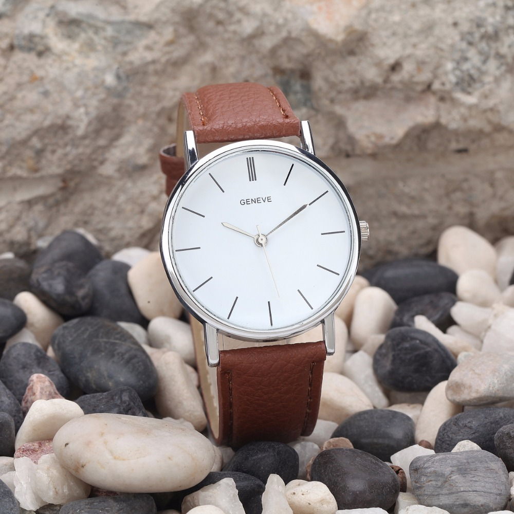 Гаджет  3 Color Simple Style Brand Watches Women 2015 Fashion PU Leather Quartz Watch Lady Dress Wristwatch Reloj Mujer Clock Women None Часы