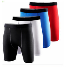 Livraison gratuite couche Mens Compression Gear Base Sport Gym short de basket - ball course à pied entraînement Shorts collants pantalons taille m - xxl(China (Mainland))