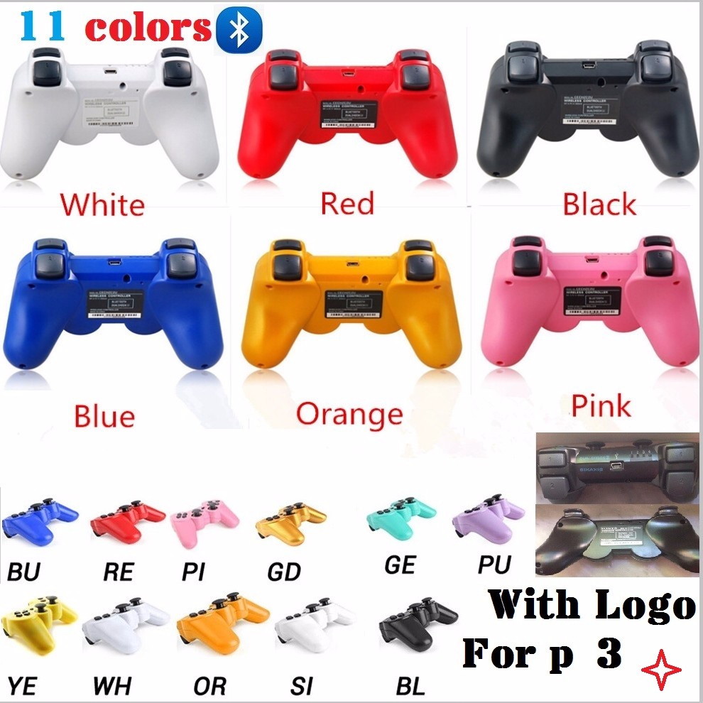 New Bluetooth Wireless Game PS 3 Controller With LOGO like original For sony playstation 3 PS3 SIXAXIS Controle Joystick Gamepad(China (Mainland))