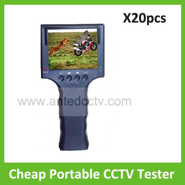 "20pcs/lot Cheap Analog CCTV Security Tester Monitor, Security Analog Camera Video Tester, 3.5"" LCD Monitor CCTV test monitor POE(China (Mainland))"