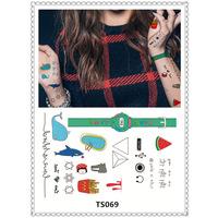 Japan Harajuku pattern tattoo sticker body art tattoo flash disposable nail fake tattoos, temporary tattoos Halloween