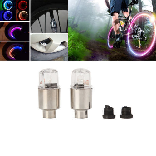New Colorful Wheel LED Safety Light Lightweight Accessory for Car Bike Motorcycle Tyre Valve(China (Mainland))