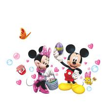 Mickey Minnie Mouse Clubhouse etiqueta de la pared extraíble vinilo pegatinas para habitación de niños decoración bebé habitación infantil etiqueta Decoración(China)