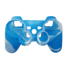 Blue Camouflage Silicone Skin Case Cover for Sony PS2/3 Wireless/Wired Controller