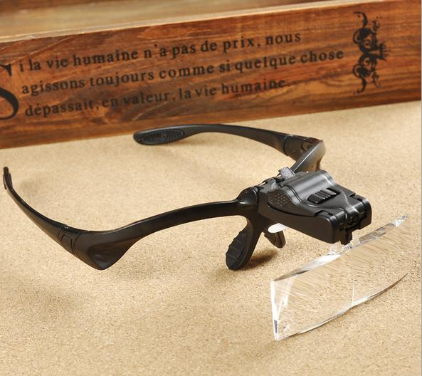 5 Lens 1.0X~3.5X Headband LED Eye Glasses Goggles Loupe Visor Magnifier<br><br>Aliexpress