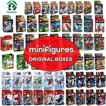 Minifigures Original Box Star Wars Ninjagoes to Fight AvengersToy Iron Man Batman Figure Blocks Compatible with Lego Minifigures