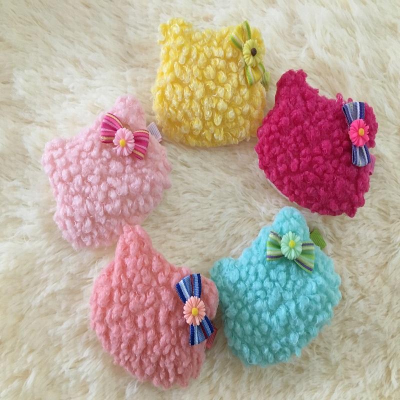 2016 headwear Accessories,1 piece Hair Clips,Baby Girls Kids Kitty barrette Cat Wool Headdress,Children Flower Hairpins(China (Mainland))
