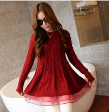 New Autumn 2015 Women Slim Long Losse Casual Sweaters Ladies Fashion Knitted Sweater Long-sleeve Pullover Plus Size(China (Mainland))