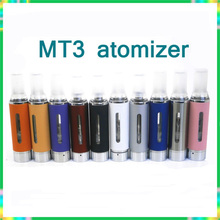 10pcs/lot MT3 Atomizer for  Electronic Cigarette colorful mt3 Clearomizer fit for evod ego battery 510 thread free shipping