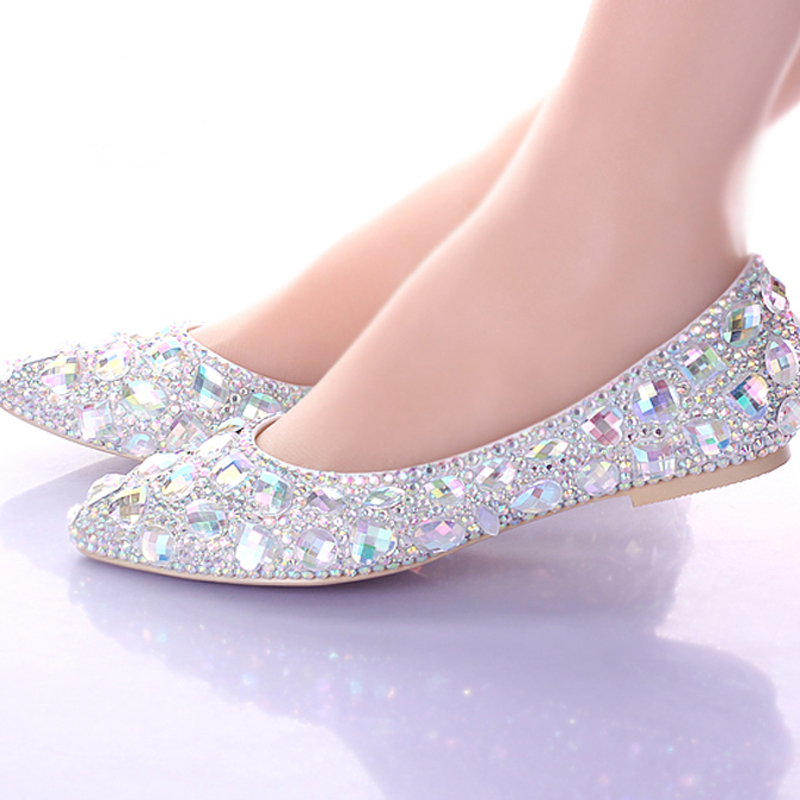 Silver flat dress shoes pictures to pin on pinterest for Flat dress sandals for weddings