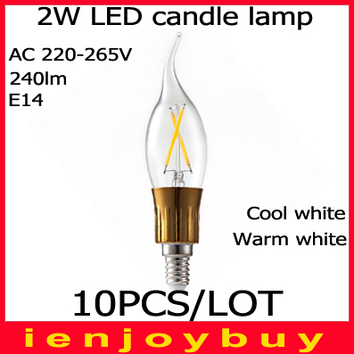 10pcs/lot Free Shipping 2W E14 COB LED lamps LED White/Warm white High Power led Bulb Lamp Candle Light Energy Saving<br><br>Aliexpress