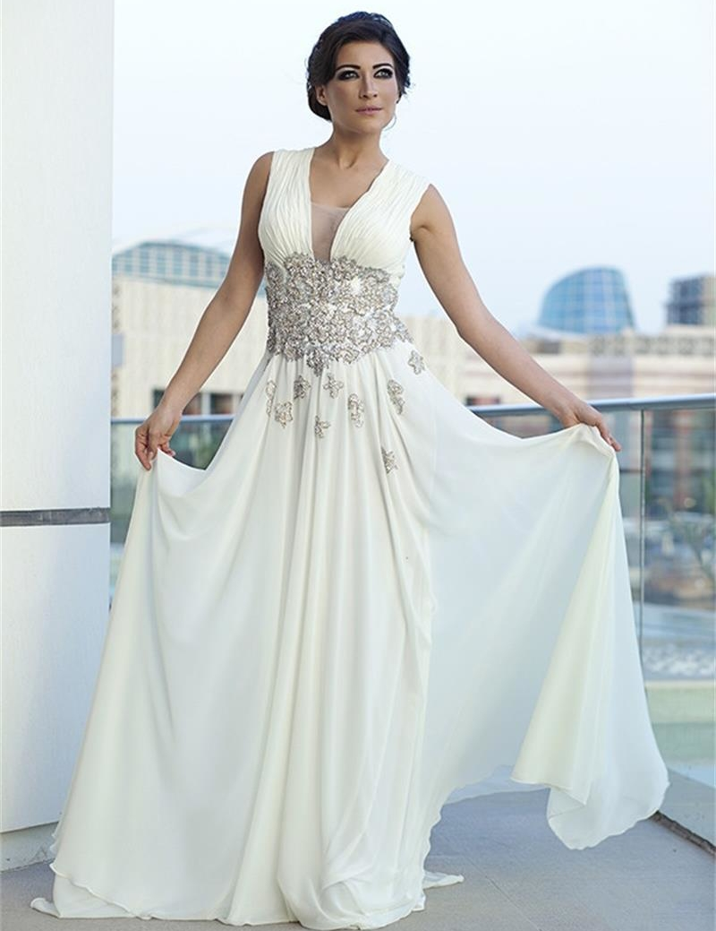 Dubai moroccan kaftan long white formal dresses 2015 for White kaftan wedding dress