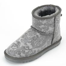 2016 Mujer Botas Con la Piel de Imitación de Invierno Nieve Botas de Cuero Genuino mujer Zapatos Planos Del Talón Botines Para Mujer Botas Para Mujer Calientes(China (Mainland))
