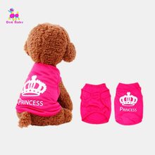 Buy Dogbaby 100% Cotton Dog Cloth Pet Cat Princess Vest Summer Puppy Spring Diamond Crown T-shirt Party Dressing Dogs Clothes S52 for $1.30 in AliExpress store