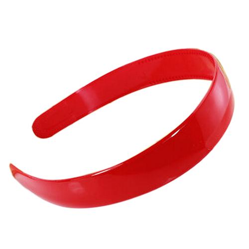"2 Pcs 1"" Width Plastic Frame Dual Row Tooth Inner Red Hair Hoop Hairband(China (Mainland))"