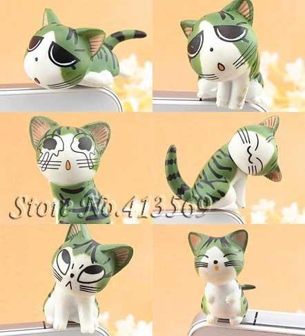 New lovely chi's cat kitty minipol ear cap , Ear Hole Cap ,Dustproof plug 3.5mm,dust cover,9pcs/lot Free shipping