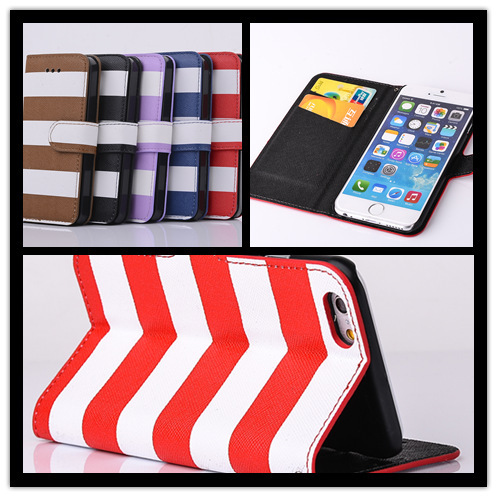 Black and white stripe style phone holster retro cell phone cover use leather tpu case for iPhone 5 5s SE 5g with Bracket(China (Mainland))