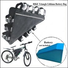 36V 0r 48V mountain Bike triangle li-ion 18650 battery storage bag and box of lithium bicycle battery pack(China (Mainland))