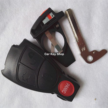 3+1 4 Buttons Remote Keyless Entry Smart Key Case Shell Cover +KEY Blade+ Batery Holder Mercedes-Benz C200 E280 S320