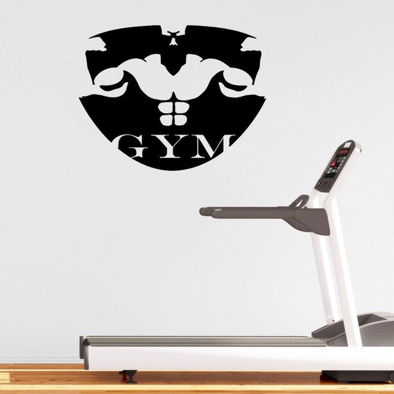 vinyl sport wall sticker gymnasium art muscle wall sticker sport wall decals 2017 grasscloth wallpaper