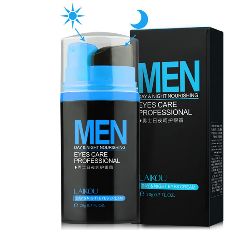 2017 Men Day and Night Anti-wrinkle Firming Eye Cream Skin Care Black Eye Puffiness Fine Lines Wrinkles Face Care 20g