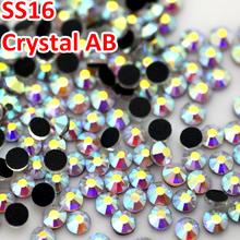 1440 pcs SS16 3.8 – 4.0 MM boa qualidade cristal AB DMC natator Strass cristal Hotfix Strass para DIY vestuário vestido