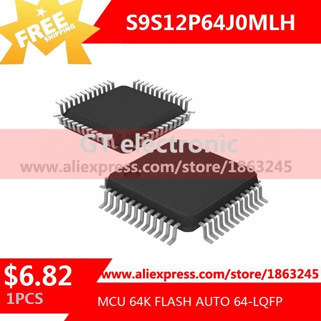 Free Shipping Electronic Components Original S9S12P64J0MLH MCU 64K FLASH AUTO 64-LQFP 9S12 S9S12 1pcs(China (Mainland))