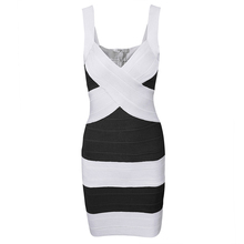 Новинки для женщин модные Бандажное платье с v-образным вырезом черные и белые и фиолетовый лоскутное ремень летние платья доставка MD8042(China)