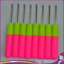 "6"" 8 pcs/lot Plastic Crochet Latch Hook crochet braids needle threader hair weaving needle hair tools hair extension accessories(China (Mainland))"