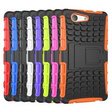 For Sony Xperia Z3 Compact Case Z3 Mini D5803 D5833 M55W Heavy Duty Armor Shockproof Hybrid Hard Rugged TPU Rubber Phone Cover <(China (Mainland))