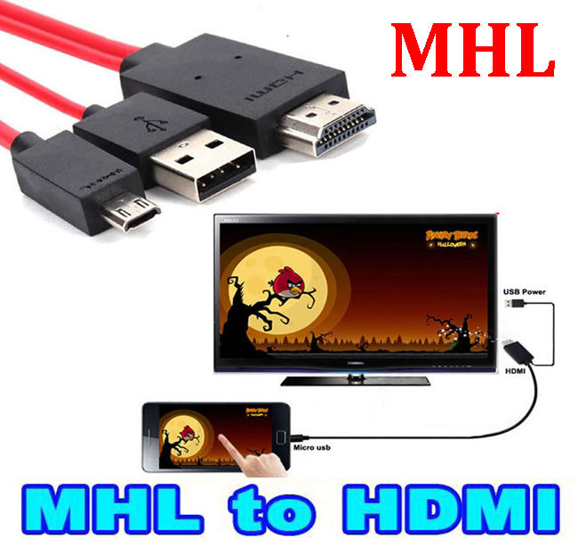 Micro USB MHL to HDMI Cable HDTV Adapter mhl hdmi for Samsung Galaxy S5 S4 S3 Note 2 Note 3 Galaxy Tab 3, Tab S, Tab Pro(China (Mainland))
