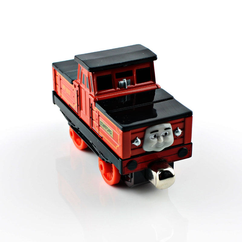 Children Cartoon Thomas and friends trains Stafford Tank trainmaster magnetic trains die cast models children cars toys for kids(China (Mainland))