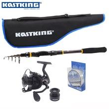 Телескопическая удочка Kastking + катушка