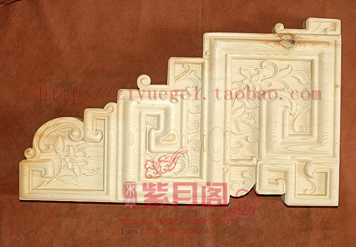 Wood carving chinese style entranceway yakou corbelling embossed solid wood corbelling pad(China (Mainland))