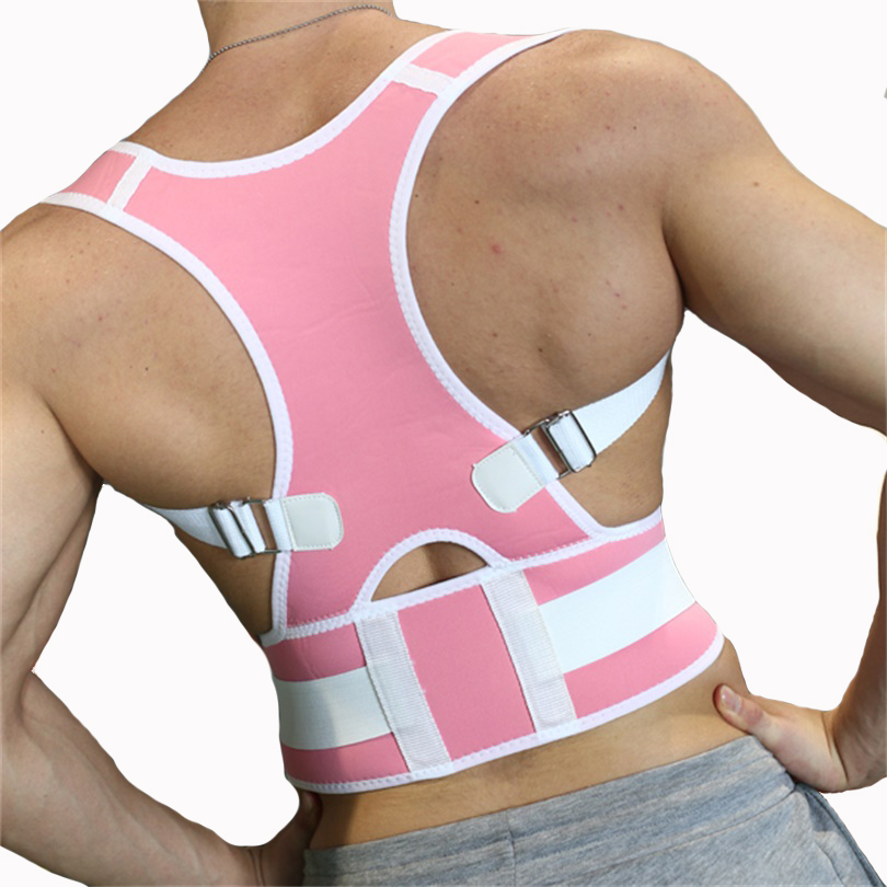 New Adjustable Posture Corrector Breathable Lumbar Back Shoulder Support Brace(China (Mainland))