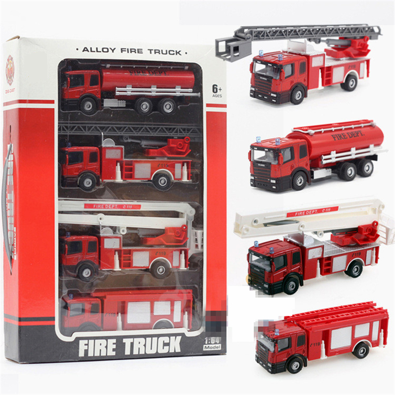 2017 New Cool Toy Truck Fire Equipment Models Car Alloy Toy Car Taxied Toy Model Fire Ladder Truck Educational Toys Cheap Gift(China (Mainland))