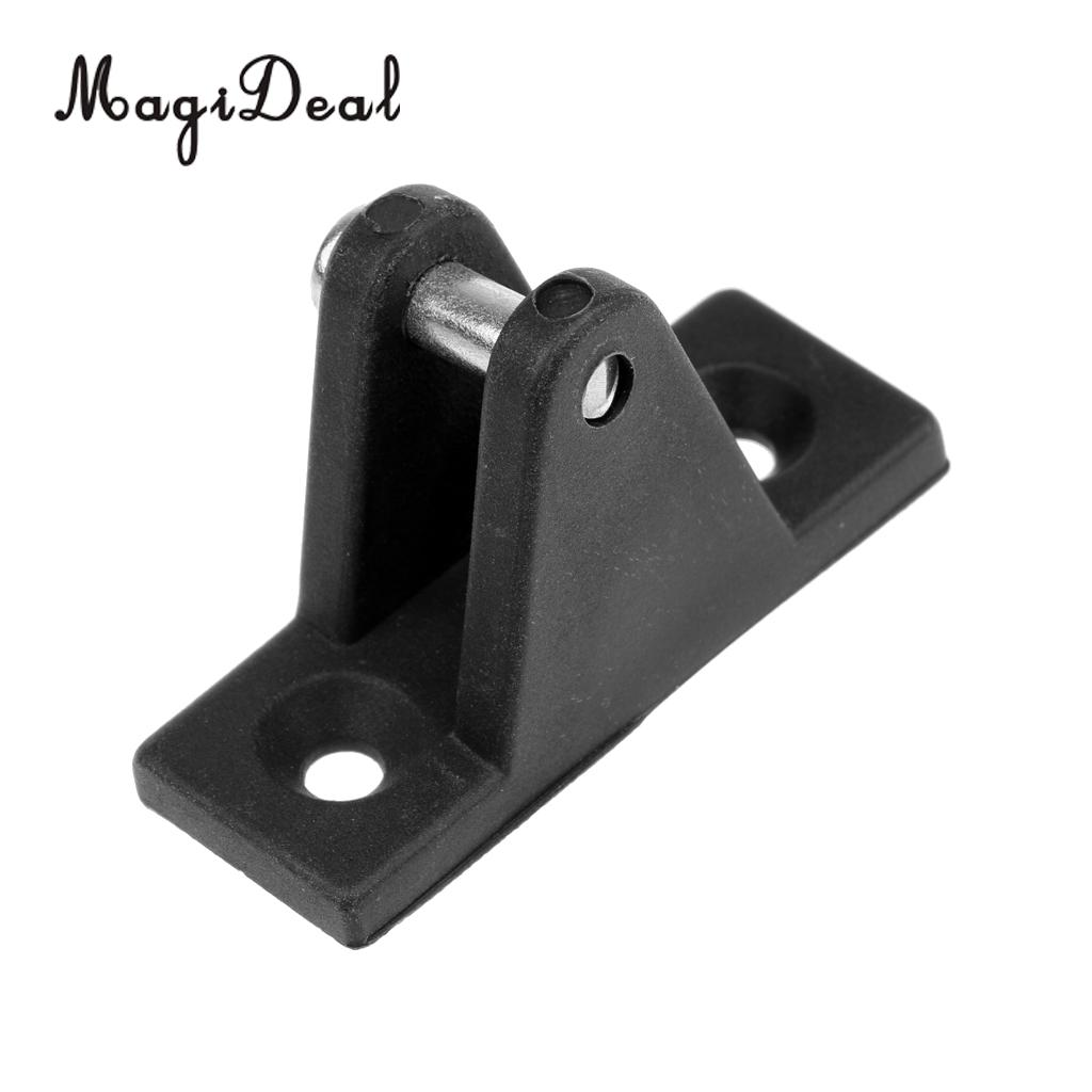 MagiDeal Boat Kayak Angled Deck Hinge Mount Black Nylon Fitting Hardware with Bolt for Inflatable Canoe Fishing Boat Dinghy Acce