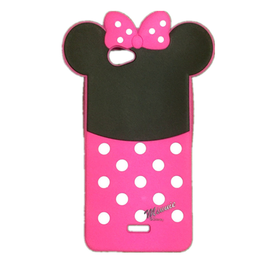 Case Wiko Getaway Covers 3D Cartoon Lovely Cute Mouse Minnie Soft Silicone Rubber Back Cover Phone Cases - Rose Angel store