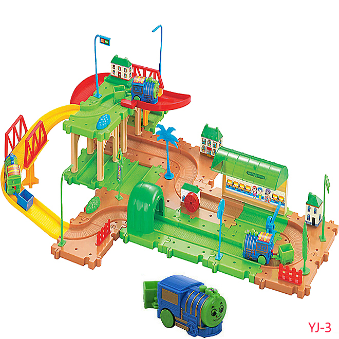 Educational childrens toys electric Thomas train track  building environmentally friendly materials with 56 PCS blocks &amp;2 car<br><br>Aliexpress
