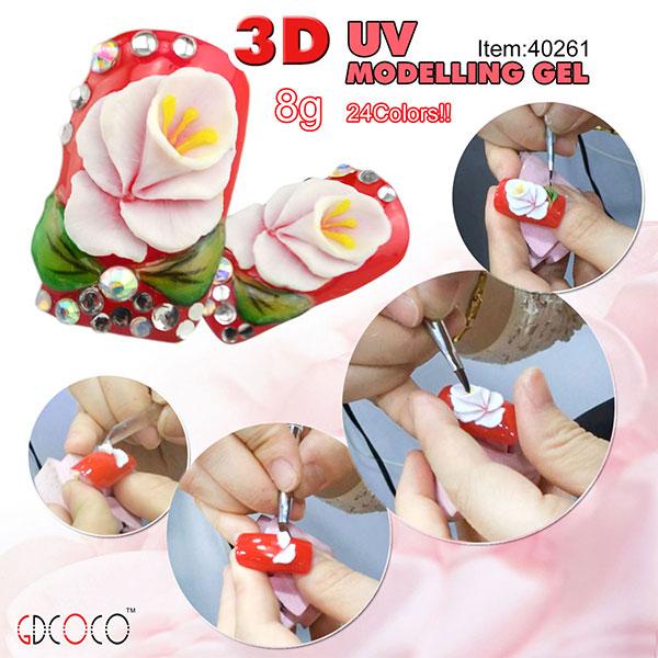 Nail  design Carving uv gel  3d nail art  #40261W<br><br>Aliexpress