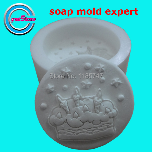 birthday cake shape silicone cake mold soap mold silicone mould for soap(China (Mainland))