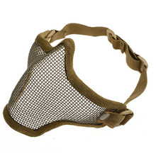 V1 Single Belt Half Face Metal Steel Net Mesh Protective Tactical Mask military cosplay airsoft paintball feild game - CS-Beauty Business Dept. store