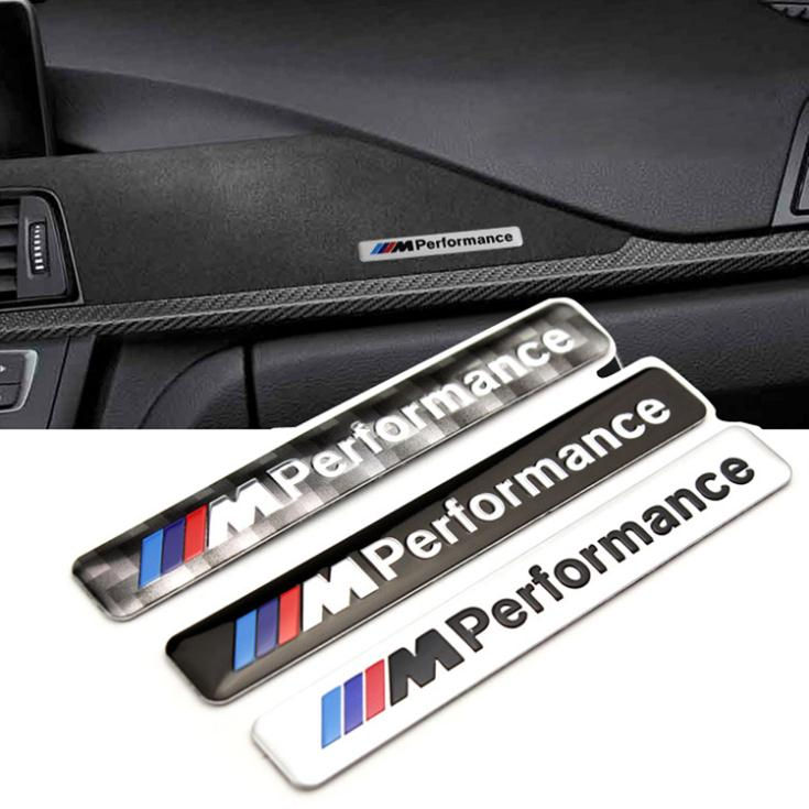 2 Pcs New Car Styling Aluminium M Performence Stickers For BMW X1 X3 X4 Series 3 Colors Black Gray Sliver Free Shipping(China (Mainland))