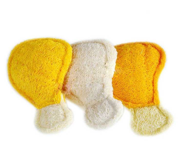 Free shipping Dog chews toys Various colors Natural plant loofah sponge chicken leg shaped toys for dogs Pet products dog toys(China (Mainland))