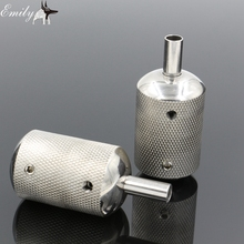 1PCS Stainless Steel Tattoo Grip 30MM With Back Stem Professional Tattoo Machine Grips Tubes Tips Tool Free Shipping TG-118C(China (Mainland))