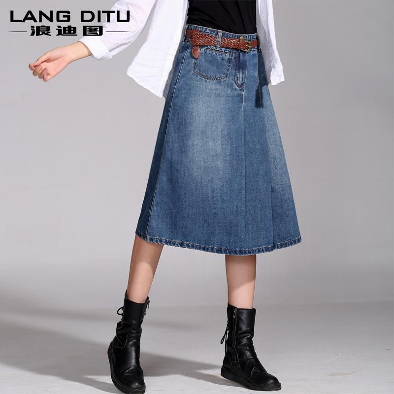 2015 and summer s vintage denim skirt bust