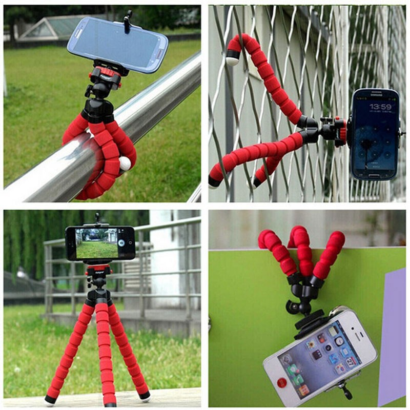 Mini Portable Flexible Sponge Octopus Tripod Stand Mount for iPhone Samsung Xiaomi Huawei for Gopro Camera DSLR Mount(China (Mainland))