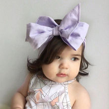 Buy 1 Pc Baby Girl Big Bows Hair Accessories DIY Infant Baby Turban Knot Headband Kids Children Adjustable Rabbit Ears Head Wrap for $1.13 in AliExpress store