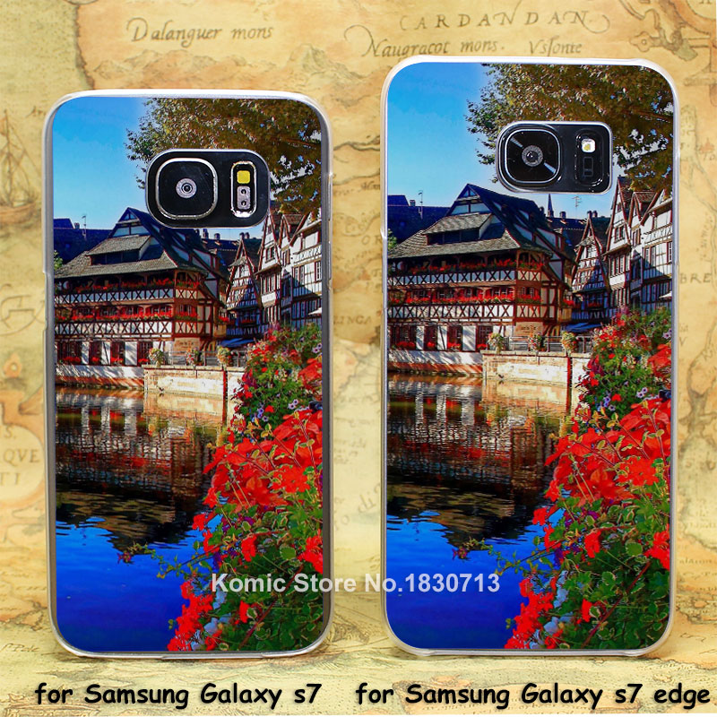 Christmas Market Strasbourg transparent clear hard case cover for Samsung Galaxy s7 s7 edge(China (Mainland))