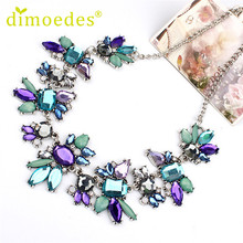 Best Deal New Fresh Wild Diomedes Delicate Flowers Chain Crystal Necklace Jewelry Gift 1PC(China (Mainland))